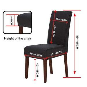 Image 4 - BeddingOutlet Unicorn sandalye kapakları gül karikatür Spandex elastik Slipcover pembe çiçek koltuk kılıfı dekor için düğün ziyafet 1 adet