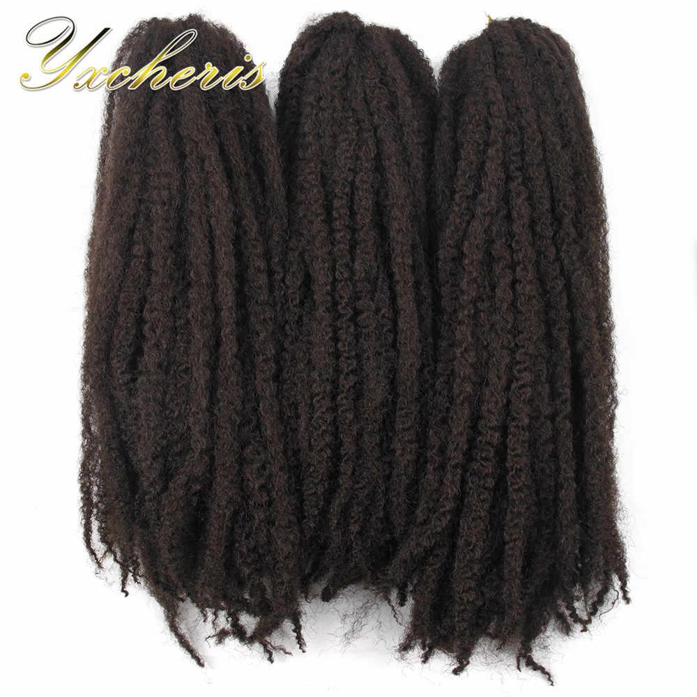 """YXCHERISHAIR Kanekalon косички марли волос 18 """"Длинные Серые светлые термостойкие АФРО Синтетические Kinky вьющиеся волосы расширен"""