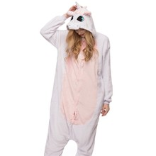 Pink Unicorn Pajamas Sets Flannel Winter Nightie Stitch Pyjamas for Women Adult Sleepwear night-suit set pajamas