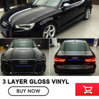 1 52x20m Roll High Glossy Vinyl Wrap Car Wrap With Air Bubble Vinyl Ultra Gloss Wrap