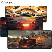 Congsipad ворлд оф танк логотип DIY Дизайн игры большой замок край коврик Размеры для 30X80/40×90 см LOL CSGO DOTA2 игровой коврик