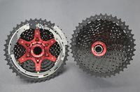 SunRace czerwony CSMX3 11 42T 10 prędkości MTB rower kaseta Freewheel szeroki stosunek rower mtb freewheel kaseta 11 42T darmowa wysyłka w Wolnobiegi rowerowe od Sport i rozrywka na