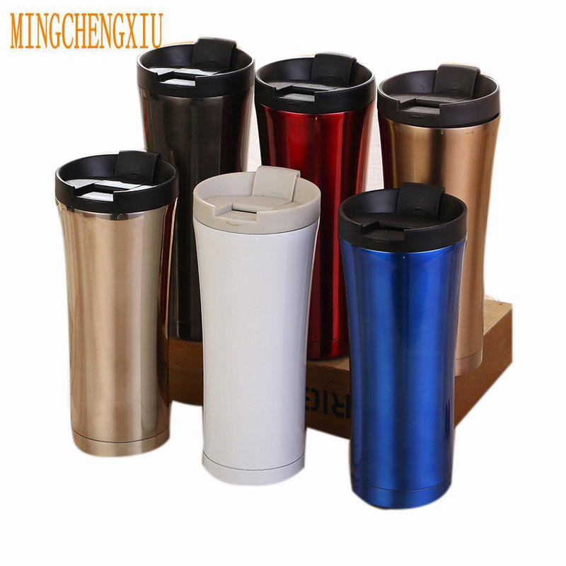 Hot Selling Double Wall Stainless Steel Thermal Bottle Coffee Cup Thermomug Vacuum Bottle Thermos Mug 500Ml