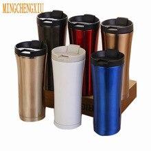 Heißer Verkauf Doppelwandige Edelstahl Thermische Flasche Kaffeetasse Thermomug Vakuumflasche Thermos Becher 500 Ml Thermocup Auto Wasserkocher