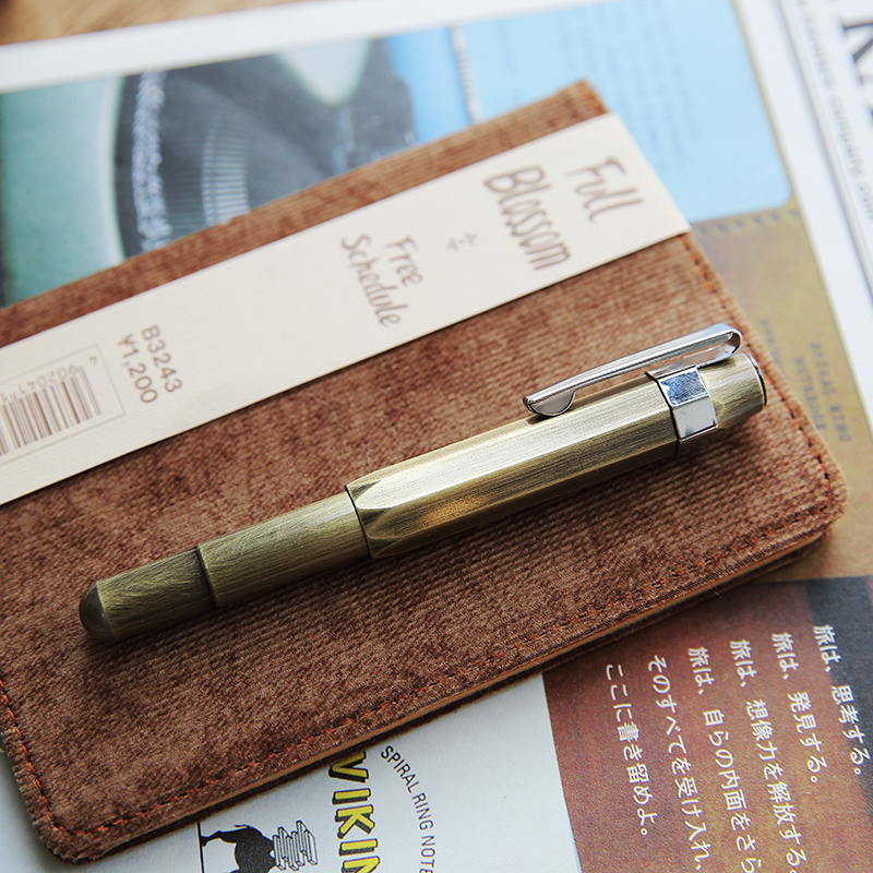 Ink Pen Brass TN Vintage Handmade Small Artwork Adult Calligraphy Pen Mini Portable Fountain Pen 0.5mm-in Fountain Pens from Office & School Supplies