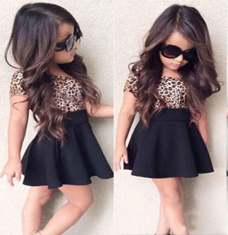 24f01b86b0 Girls Dresses 2017 Brand Spring Summer Princess Dress Kids Clothes Leopard  Print Design for Baby Girls