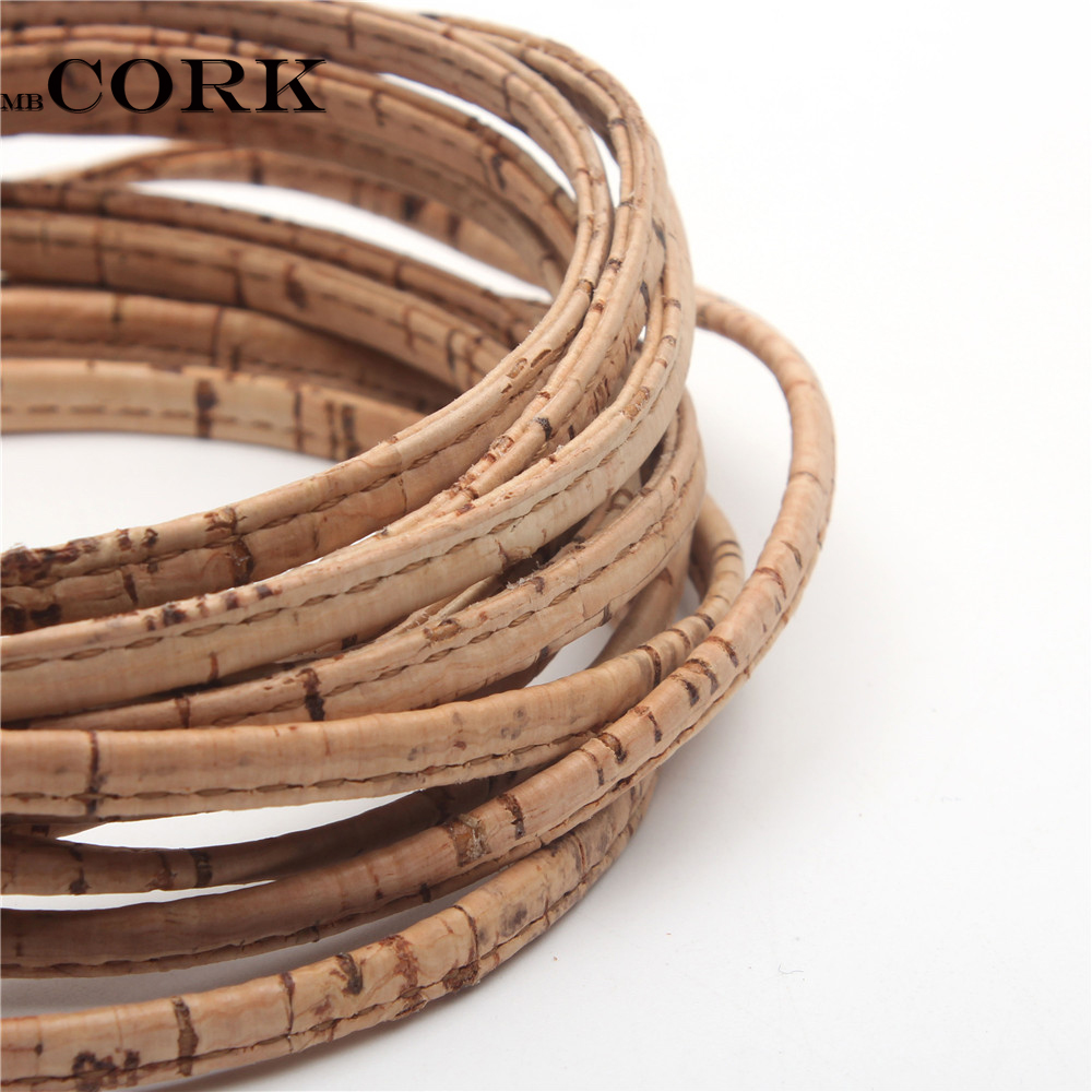 Cork Jewelry: 5mm Flat Natural Cork Cork Cord Portuguese Cork Wholesale