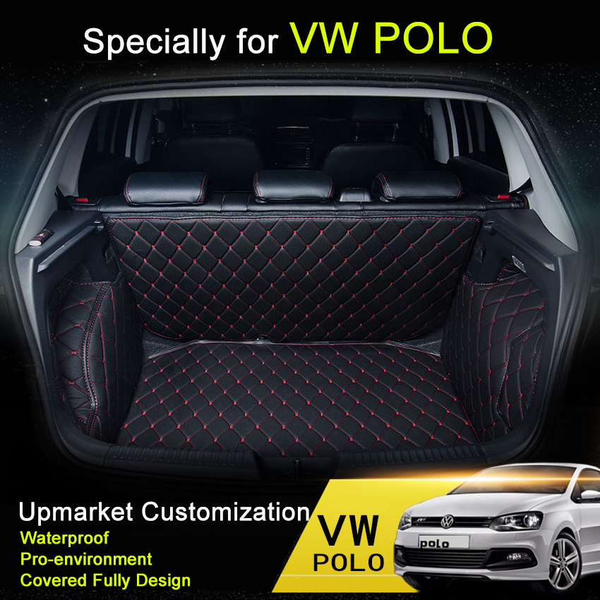 ๏Car Carpets For ② VW VW PLOLO Car Trunk Mats Polo ⑥