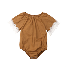 Pudcoco Toddler Newborn Infant Baby Girl Boy Lace Bodysuit Jumpsuit Outfits Sunsuit Clothes Summer