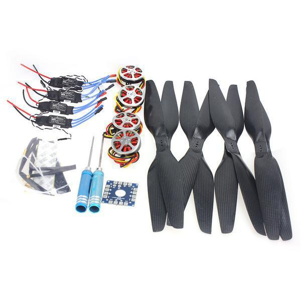 F05422-I 4-Axis Foldable Rack RC Quadcopter Kit +750KV Motor+15x5.5 Propeller+30A ESC+ KK Connection Board f02015 g 6 axis foldable rack rc quadcopter kit apm2 8 flight control board gps 1000kv brushless motor 10x4 7 propeller 30a esc