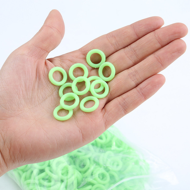50Pcs/Pack Green Color Camping Nail Night Vision Luminous Ring Round Multi-functional Tents Accessories P0