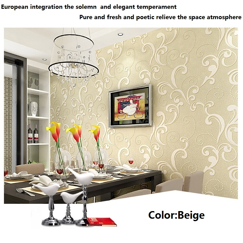 European luxury 3d wallpaper home decor background wall for Home decor 3d wallpaper