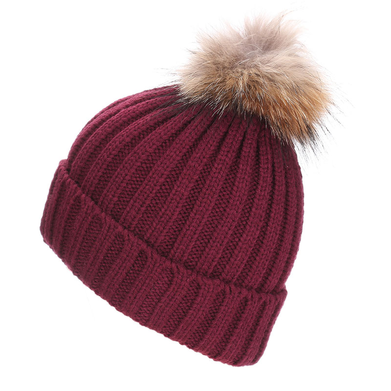 Women Winter Hat Faux Raccoon Fur Pom Wool Knit Baggy Crochet Beanie Ski Cap Hot lightstar люстра lightstar torcia 10х40w g9 белый ls 780100