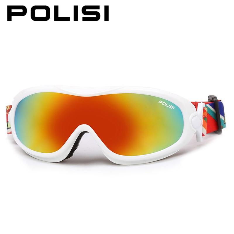 Inverno à prova de vento anti-nevoeiro óculos de esqui polisi crianças  crianças uv400 snowmobile neve óculos ski snowboard skate óculos a3507485e5