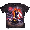 Nuevo 2016 TROMPETA Ocasional flojo del verano de cuello redondo cuello corto negro Imprimir camisetas Hombres Camisetas tops tamaño S-XXL