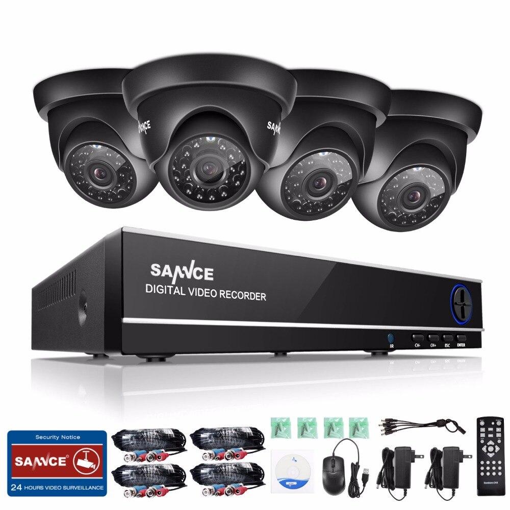 bilder für SANNCE 8CH 720 P CCTV System 1080 P HDMI DVR 4 STÜCKE 720 P 1.0MP Überwachungskameras Im Freien Wasserdichte CCTV Überwachungssets 1 TB HDD