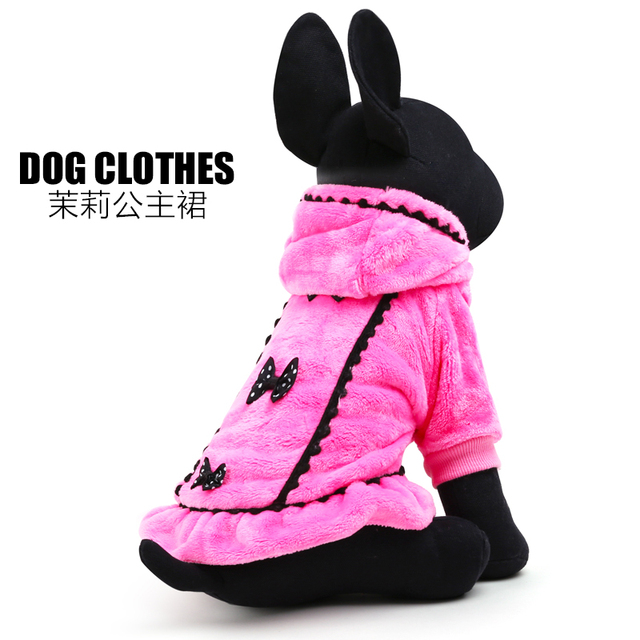 2017 Promotion Graceful Pet Dog Clothes Winter Size Xxs-l Small And Large Dog Clothing Plushdog Coats For Chihuahua Freeshipping