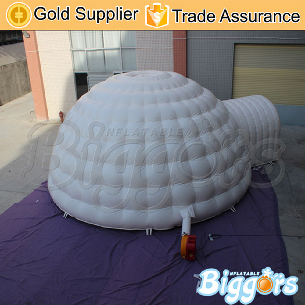 dome inflatable tent with CE air blower/air dome tent/ shell shape toy play house tent inflatable tent with blower for children funny outdoors park indoor pvc white play house bubble tent commercial with toilet
