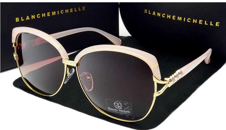 HTB1Kv2 X4uaVKJjSZFjq6AjmpXaX - Blanche Michelle 2018 High Quality Square Polarized Sunglasses Women Brand Designer UV400 Sun Glasses Gradient Sunglass With Box