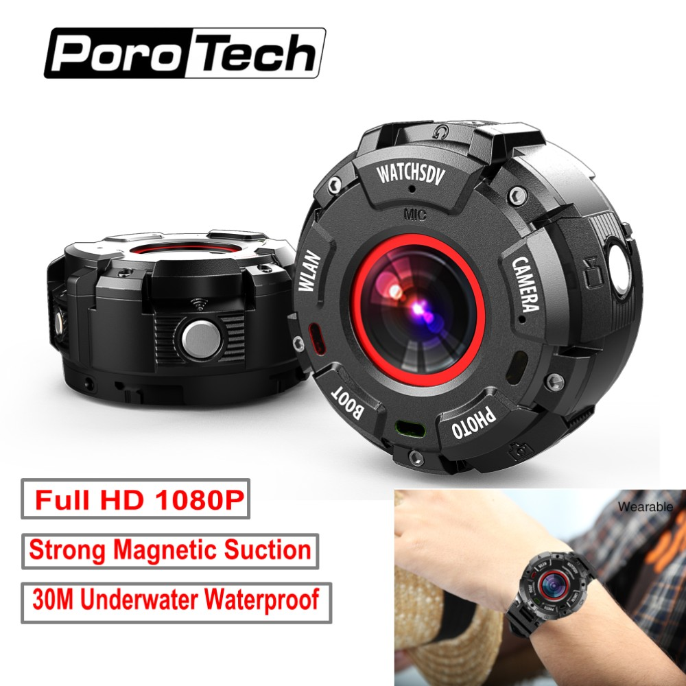цена на Newest WiFi Sports Camera G600 30m waterproof HD 1080P Swim Diving DV DVR Action Camera Watch band Mini Camcorder Video Recorder