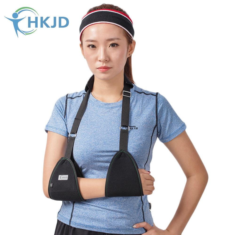 HKJD Shoulder belt Adjustable Breathable Medical Arm Sling Clavicle Fracture Surgery Support Dislocation Broken Arm