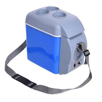 12 В в 7.5L Multi-function портативный мини-подогрев охлаждения автомобиля холодильник морозильник холодильник горячего и холодного двойного исполь...