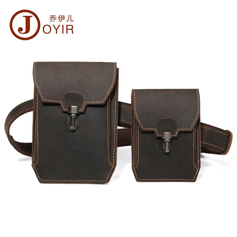 Joyir midja pack äkta läder man multi-purpose vintage casual bälte - Bälten väskor - Foto 3