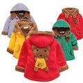 Cartoon Print Plush Thick Warm Hooded Girls and Boys Coat Autumn Winter Kids Jacket Outerwear Baby Fleece Baby Tops Coats