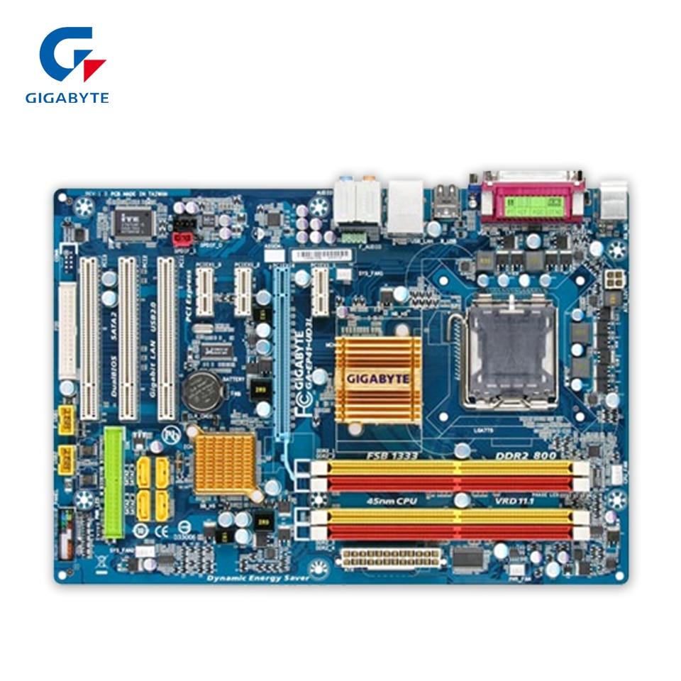 Original Gigabyte GA-EP41-UD3L Desktop Motherboard EP41-UD3L G41 LGA 775 DDR2 8G SATA2 USB2.0 ATX 100% Fully Test original gigabyte ga 945gcm s2c desktop motherboard 945gcm s2c 945gc lga 775 ddr2 4g sata2 micro atx 100% fully test