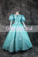 Princess Ariel Cosplay Costume Halloween Fancy Dress The little Mermaid Ariel Women Dress Custom Made Sequins Lace Up Gown Suit