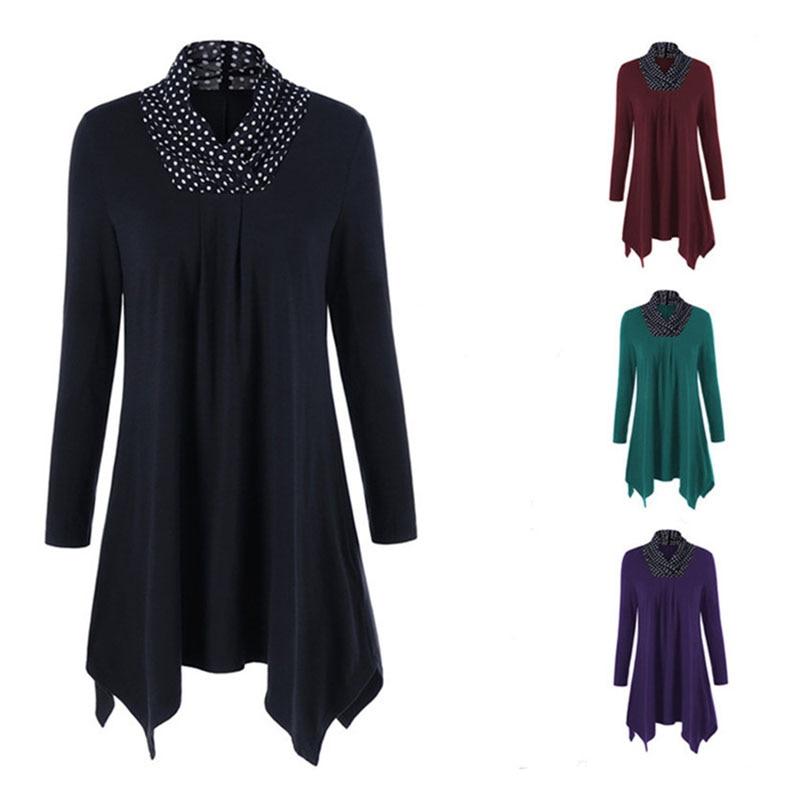 Loose Fashion Long-sleeved  Irregular Dress