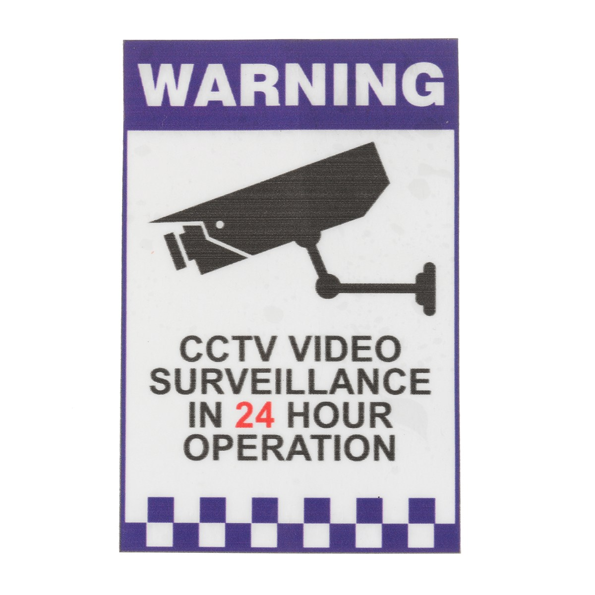 Safurance 24 Hour Internal Warning CCTV Security Surveillance Camera Decal Sticker Sign Home Safety