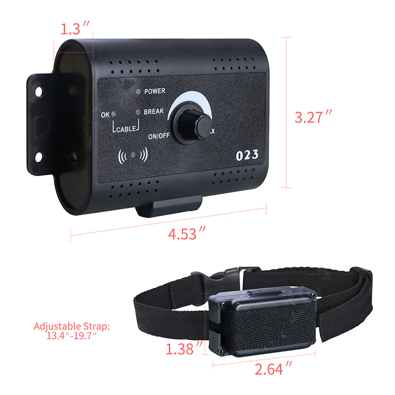 Safety In-ground Pet Dog Electric Fence With Chargable Dog Electronic Training Collar Invisible 023 Electric Dog Fence System2