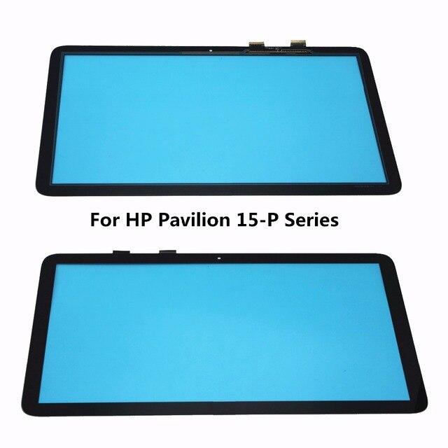 """15.6 """"para hp pavilion 15-p 15-p099nr 15-p051nr 15-p030nr 15-p213cl 15-p043cl panel de pantalla táctil de cristal digitalizador reemplazo de la lente"""