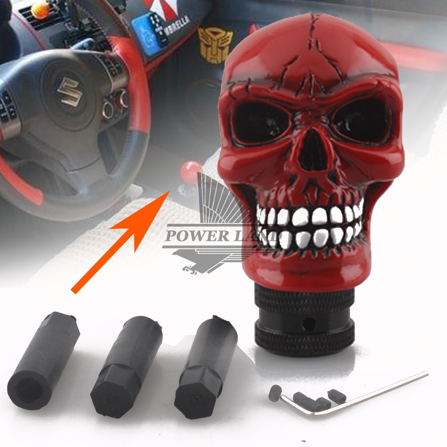 Replacement Auto Parts >> Car Styling Modified Red Skull Head Gear Shift Knob Auto Gear Racing Manual Auto Shift Knob ...