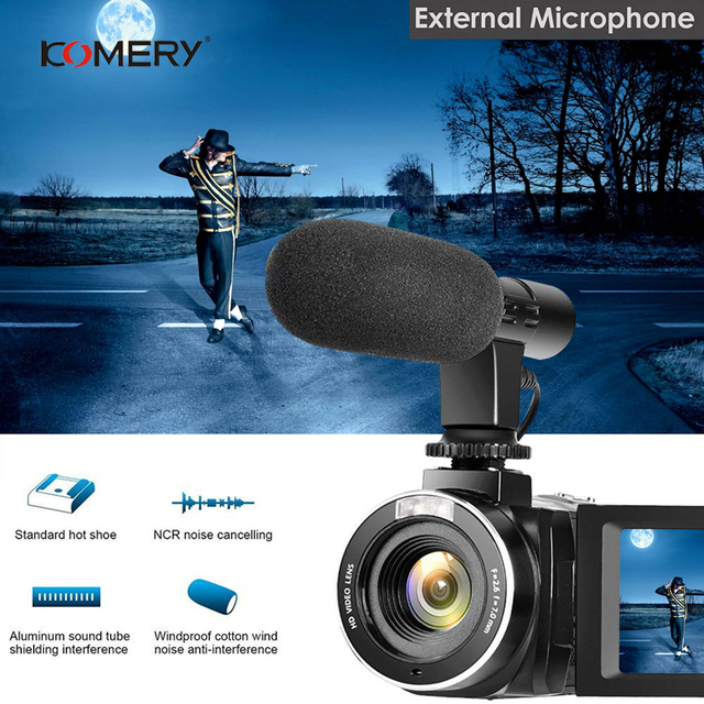 KOMERY 4K Camcorder Video Camera Wifi Night Vision 3.0 Inch LCD Touch Screen Time-lapse Photography Camera Fotografica With Micr 3