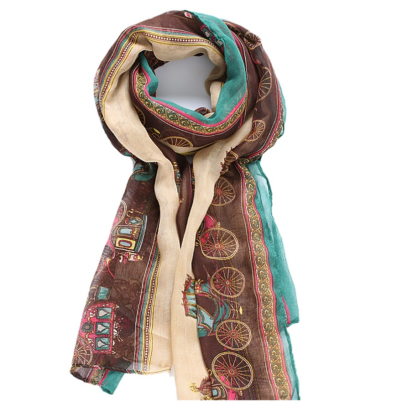 1PC 2019 Spring Autumn Lady Girls Soft Cotton Long Carriage   Scarf   Large Shawl   Scarves     Wrap   Funny Print Women Shawl   Scarves