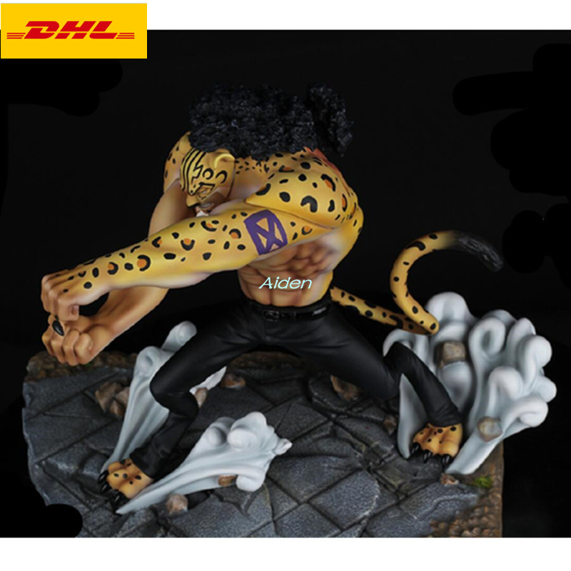 """7""""ONE PIECE Statue World Government Bust CP9 Full-Length Portrait leopard Rob Lucci GK Action Figure Collectible Model Toy B1175"""
