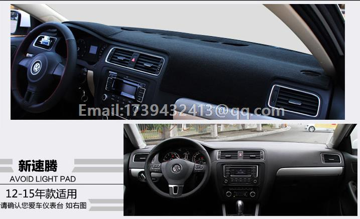 for VW Volkswagen Jetta GTI A6 MK6 2016 2015 2014 2012 2013 2011 dashmats car styling accessories dashboard cover