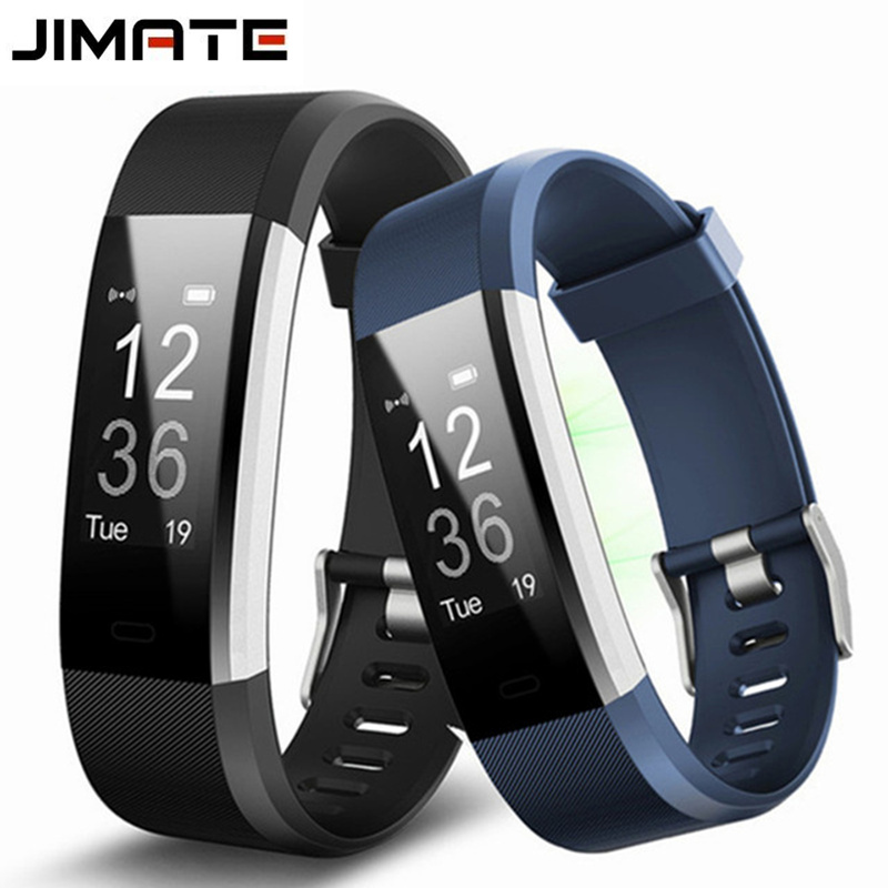 цена на Jimate ID115HR Plus Heart Rate Smart Wristband GPS Sport Smartband Pedometer Fitness Tracker Bracelet Band Watch For IOS Android
