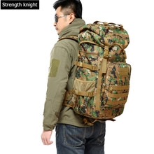 Hot Sale Men 50L Military Army Bag Men Backpack High Quality Waterproof Nylon Laptop Backpacks Camouflage Bags Free Shipping