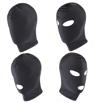 Spandex Padded Blindfold Eye Face Mask Open Mouth Hood Head Opening Balaclava face mask