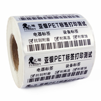 Label Sticker 90*60 mm 10000 pcs/Roll Thermal Transfer Silver PET Label Matte barcode electronic product printing label