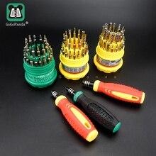 Бесплатная доставка 31 в 1 Магнитная отвёртки комплект прецизионная ручка Мобильный комплект для ремонта телефона инструменты 7001 для телефона дома