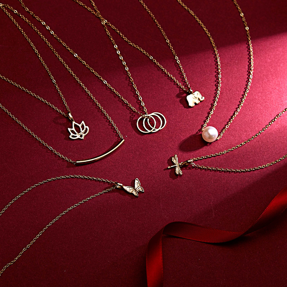 Rinhoo бабочка слон жемчуг любви золотого цвета Кулон ожерелье s цепочки на ключицы ожерелье модное ожерелье женские ювелирные изделия