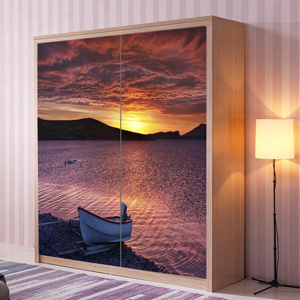 Yazi Hd Print Customized Size Pvc Wallpaper Mural Bedroom Wardrobe
