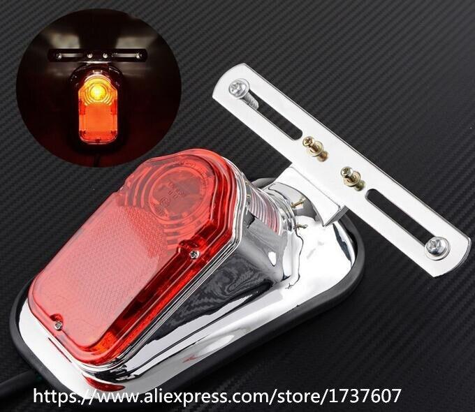 1 unids accesorios de Motos Harley locomotora retro cola de la motocicleta luces