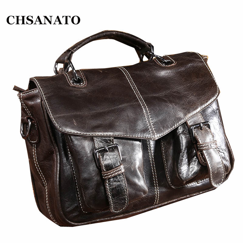 2018 New Brand Men Messenger Bags 100 Genuine Leather Shoulder Bags Casual Business Designer Men s