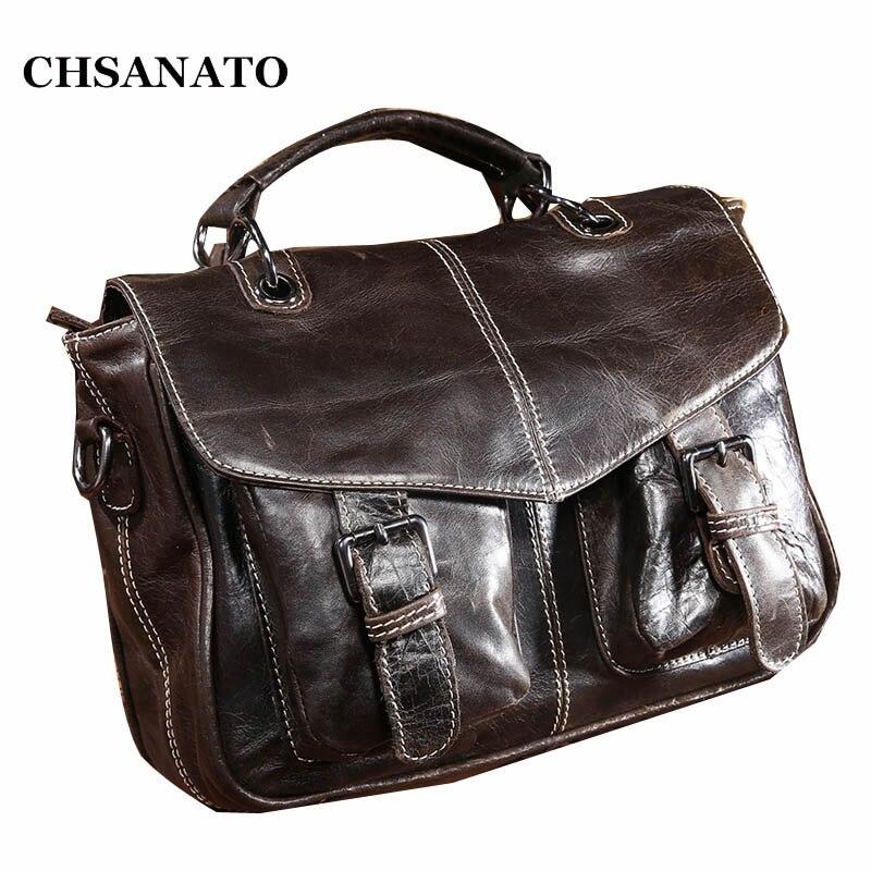 2018 nouvelle marque hommes Messenger sacs 100% en cuir véritable sacs à bandoulière décontracté Business Designer hommes sacs à bandoulière sacs à main