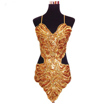 Studio art photography stage sexy sequin beading butterfly bellyband hollowed halter backless lace-up belly dance dress set halter backless lace panel sheath cocktail dress